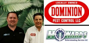 greg pettis of dominion pest control along with owner of howard's exterminating service