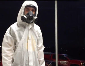 Dominion Pest Control disinfecting services technician in Lancaster County, Pennsylvania